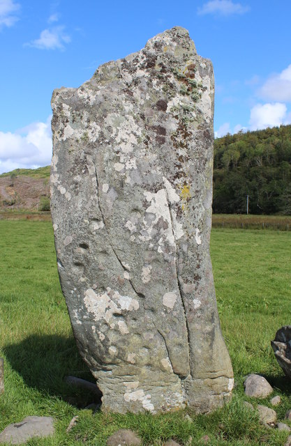 The Nether Largie decorated standing stone