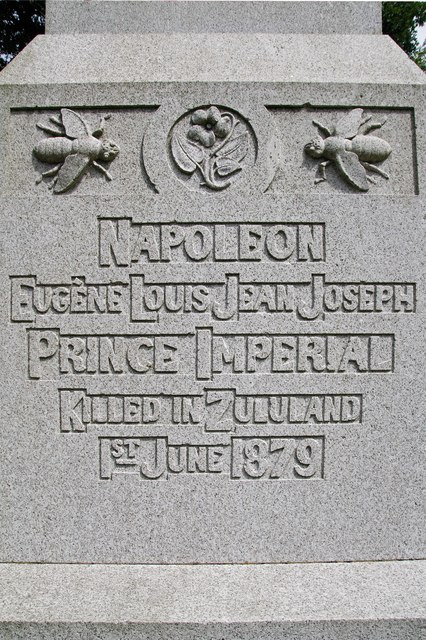 Prince Imperial Memorial - inscription