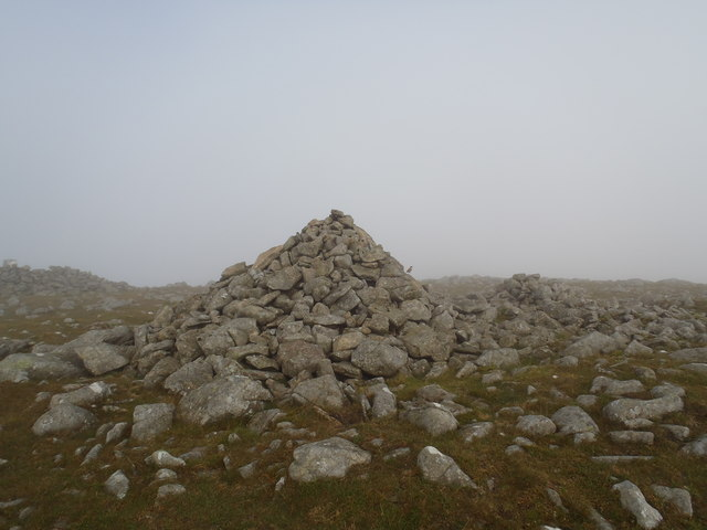 Cairn on the summit of Cairnsmore of Carsphairn