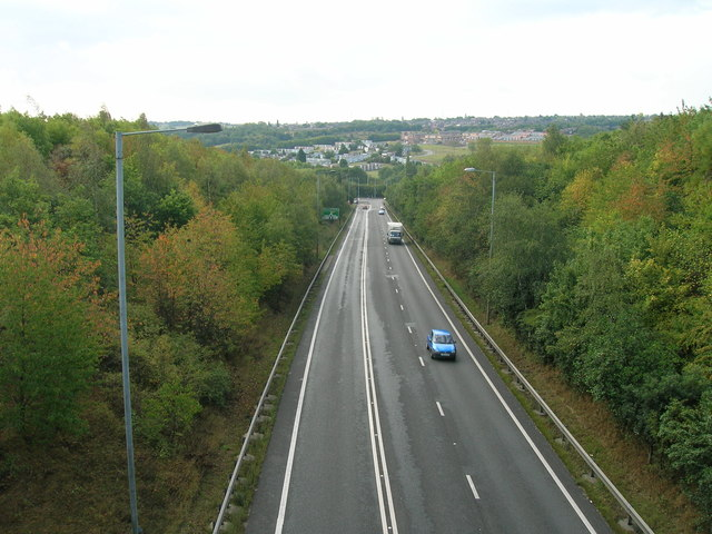 A57 southbound