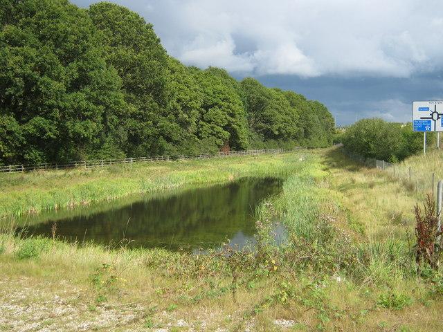 Balancing Pond next to Deighton Whin