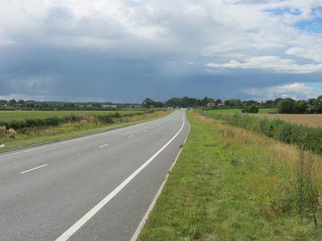 B1224 road towards Kirk Deighton