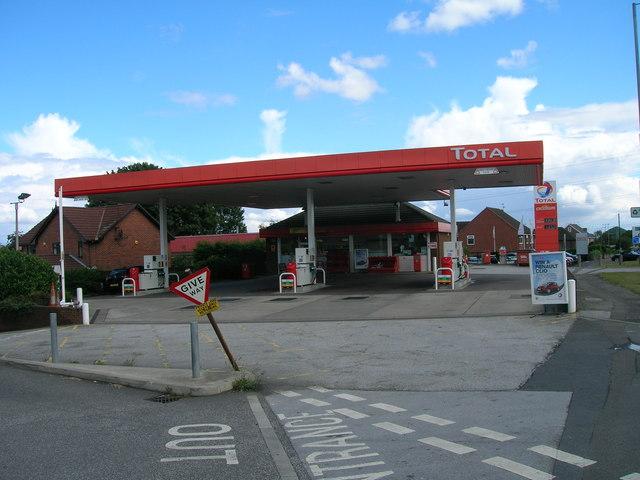 Service station on the A631