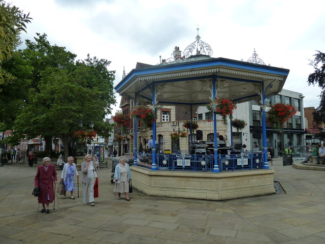 Four ladies and a bandstand