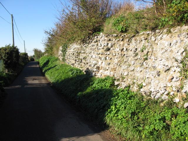 Roman walls of the former Regulbium, Reculver