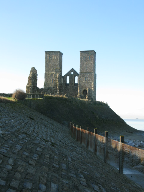 Coastal defences around St Mary's church