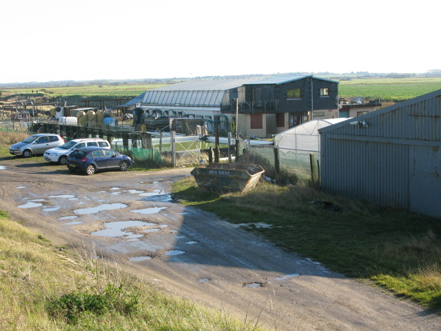 Buildings at the shellfish hatchery, Reculver
