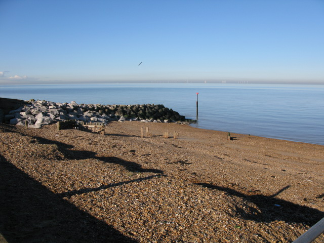 The beach beside the Northern Sea Wall