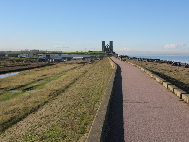 Looking W along the Northern Sea Wall