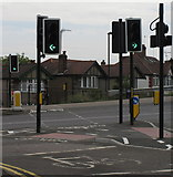 """TQ1882 : """"Cycle Crossing Only"""" across Hanger Lane North by David Hawgood"""