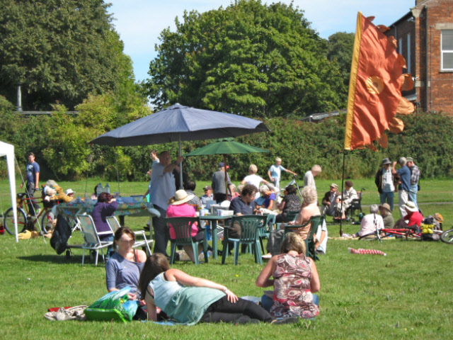 Protest picnic, Brewery Field, Bridgwater