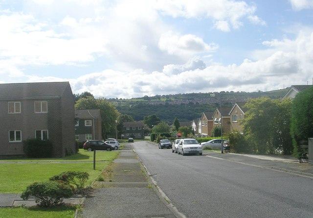 Hoyle Court Drive - looking towards Hoyle Court Road