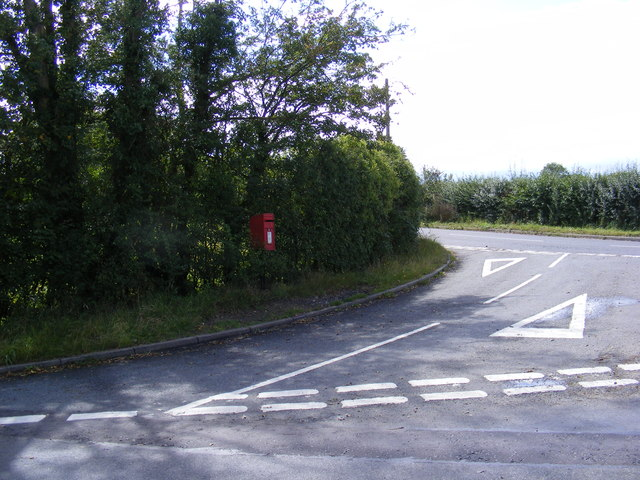 B1116 Laxfield Road & White Horse Postbox