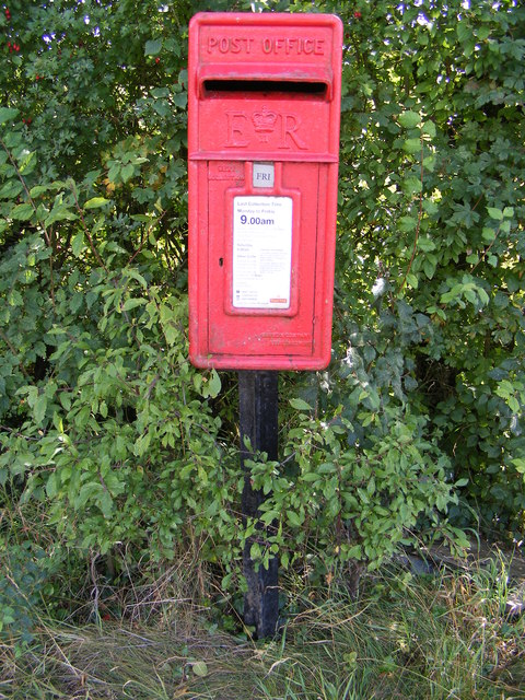 White Horse Postbox at Wells Corner