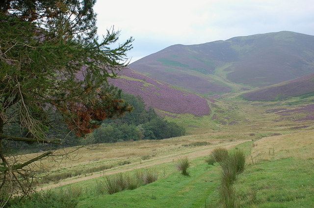 John Buchan Way path to Broughton Hope