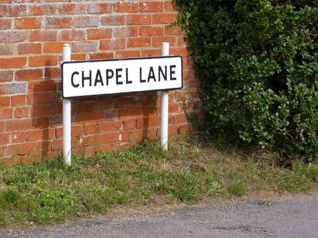 Chapel Lane sign