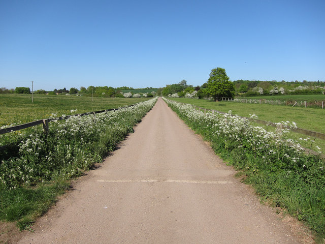 Newnham Hall Farm access track