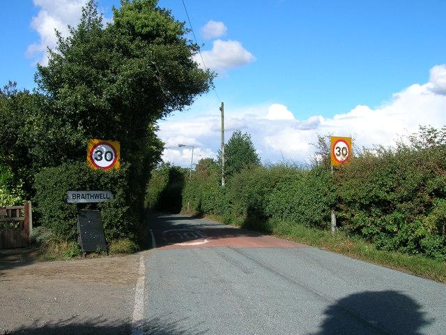 Entering Braithwell