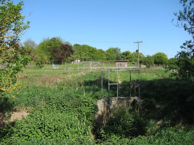 Sewage treatment works north of Ashdon