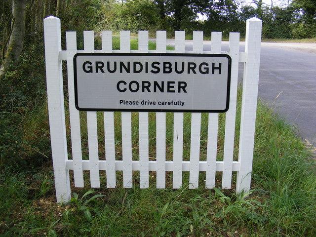 Grunsdisburgh Corner sign