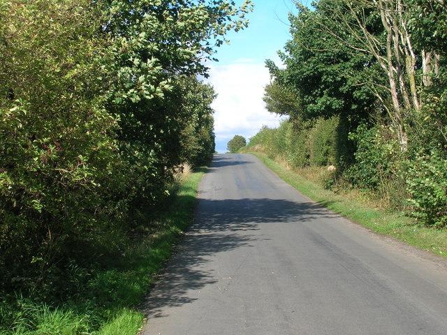 Minor road towards Old Edlington