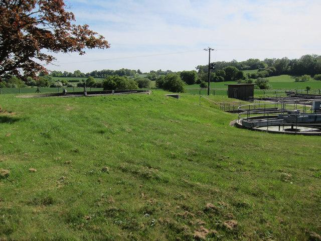 Sewage works north of Ashdon