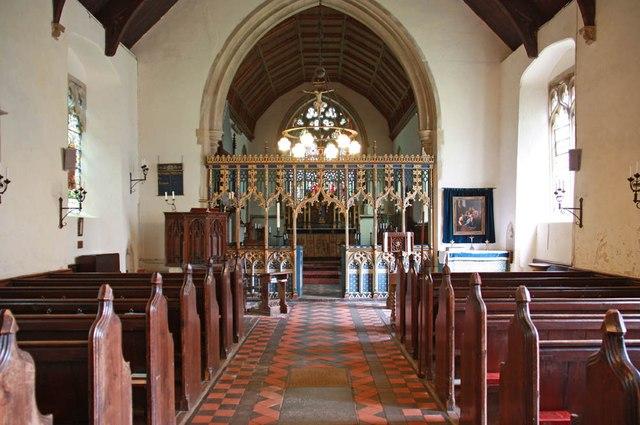 All Saints, Welborne - East end