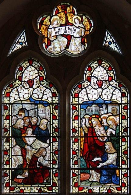 All Saints, Welborne - Stained glass window