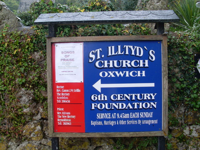 Church Noticeboard, Oxwich