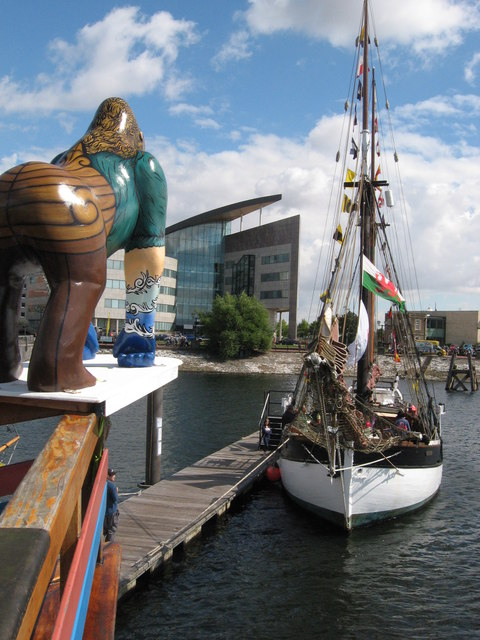 Tall ship Ruth at Cardiff Harbour Festival