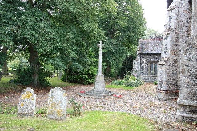 St Edmund, Costessey - War Memorial