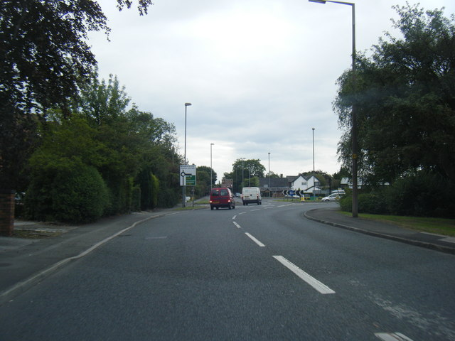 Woodford Road approaching Airport Link Road roundabout