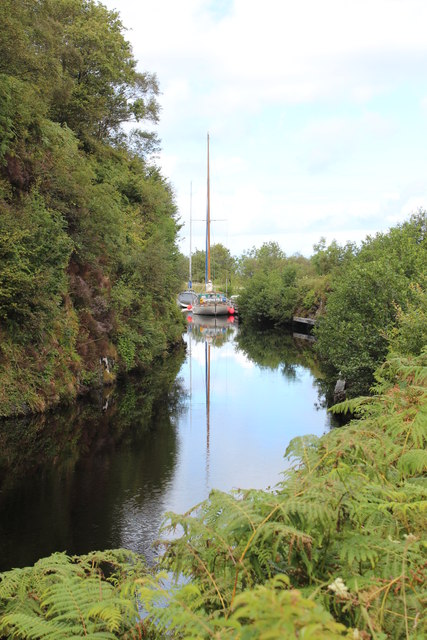 Yachts on the Crinan Canal