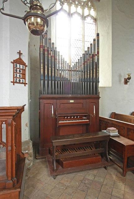 St Mary, Carleton Forehoe - Organ