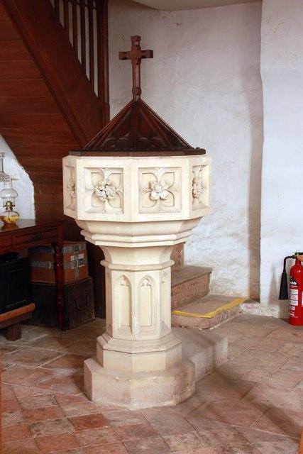 St Mary, Carleton Forehoe - Font