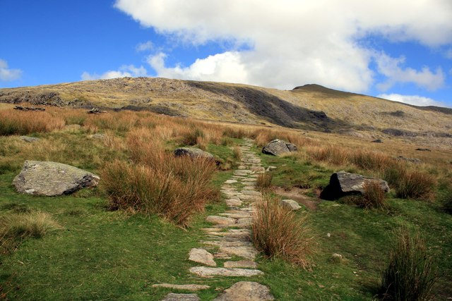 The Rhyd-Ddu path at Rhos Boeth