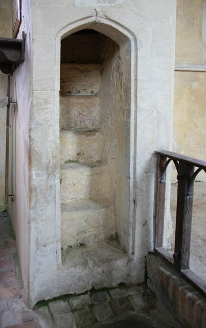St Michael, Coston - Rood stairs