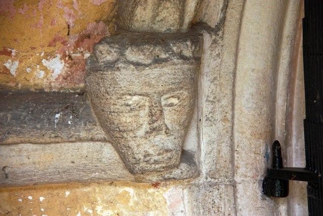St Michael, Coston - Label head