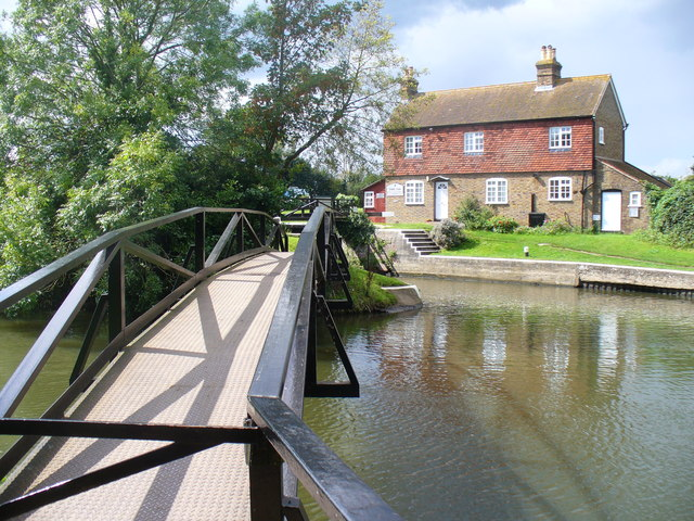 Footbridge Over the River Wey