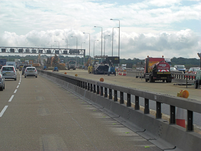 M25 construction site of new MSA