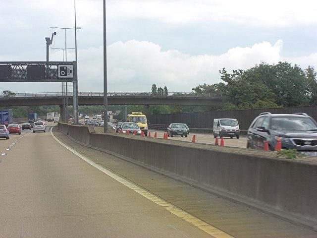 M25 crossed by Stoke D'Abernon Bridge