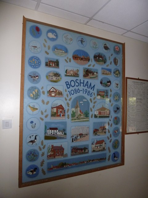 Commemorative tapestry within Bosham Village Hall