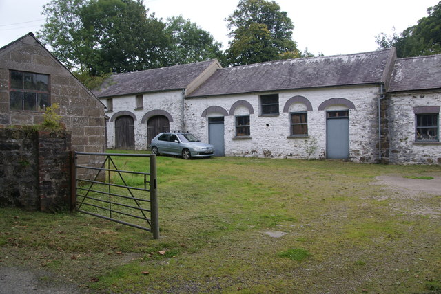 Farmyard at Pontfaen