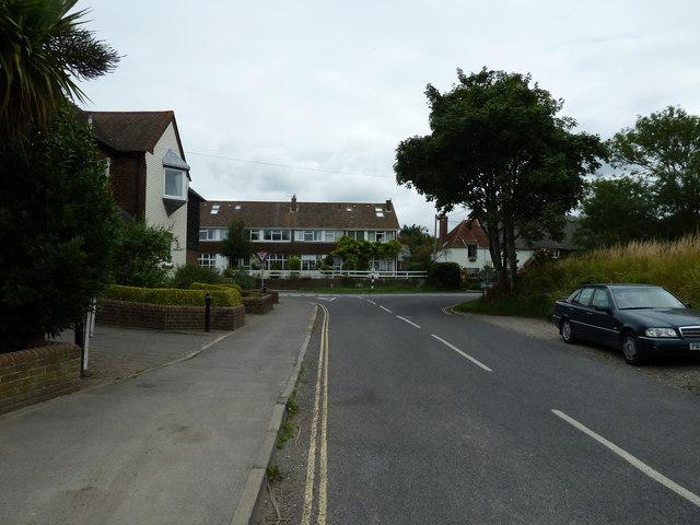 Looking from Taylors Lane towards Bosham Lane