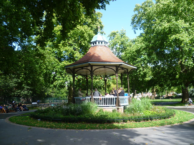 The bandstand in Myatts Fields Park