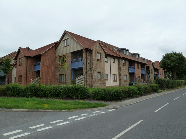 Flats at the junction of Leander Road and Taylors Lane
