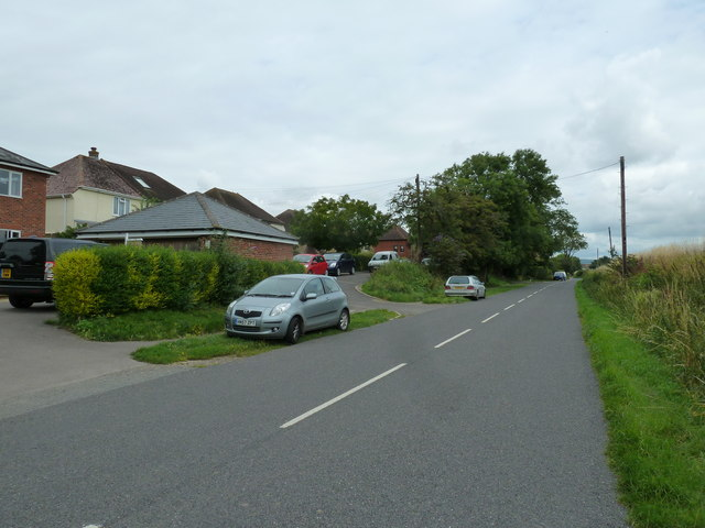 Approaching the junction of Manor Villas and Taylors Lane