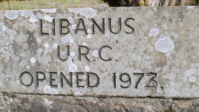 Libanus URC chapel : stonemason's error?