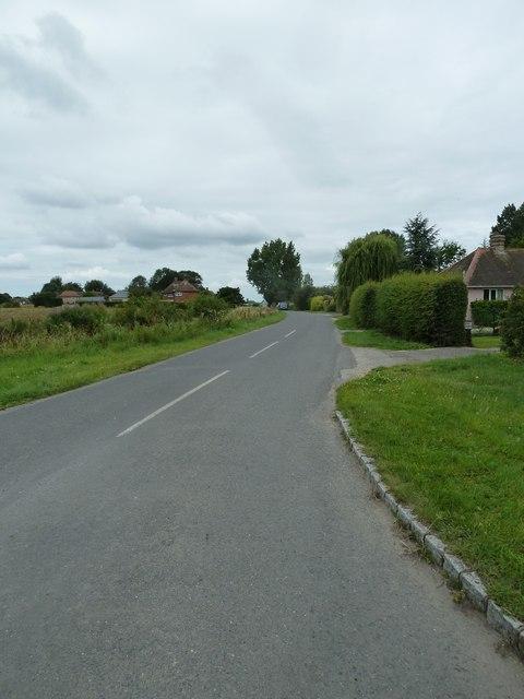 Looking westwards in Stumps Lane