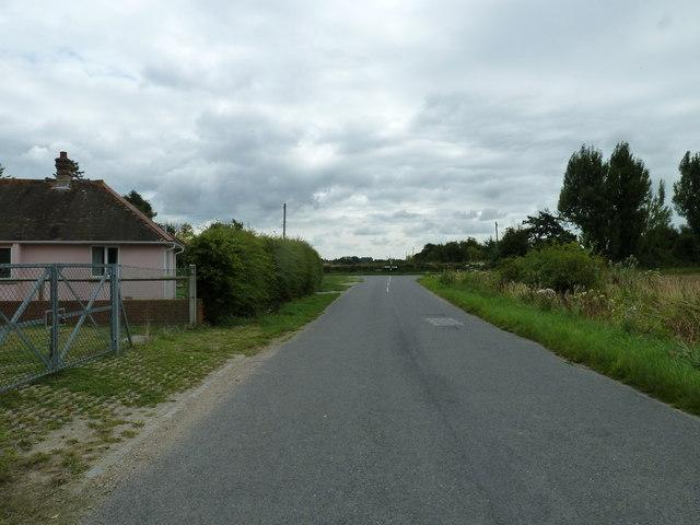 Looking eastwards in Stumps Lane